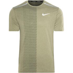 Nike Breathe Tailwind Løbe T-shirt Herrer oliven